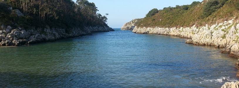 Vista de la Playa de Guadamía, en Asturias