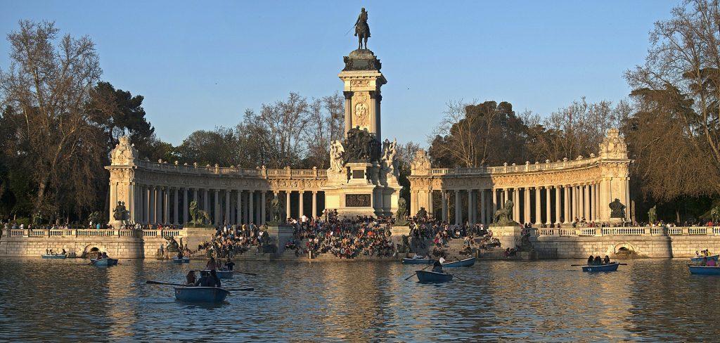 El Parque del Retiro, en Madrid, una de las principales fuentes de zona verde de la capital