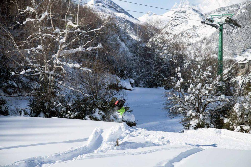 Vista de la estación de esquí de Huesca, en Formigal