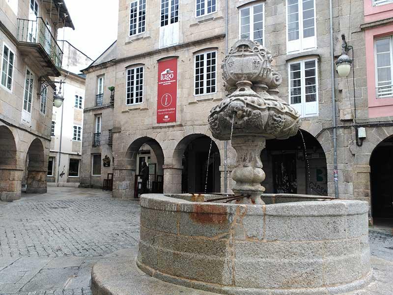 Fuente de San Vicente en Lugo.