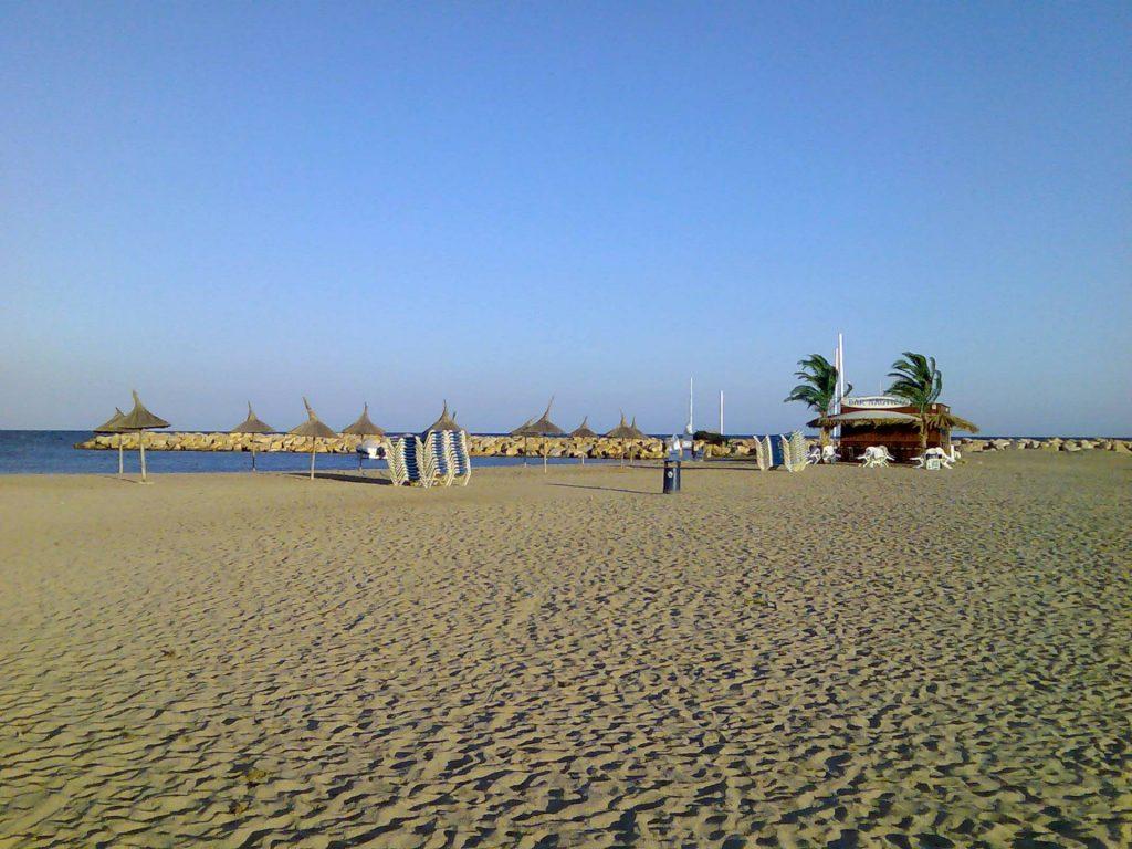 Una de las playas de la Costa Dorada, en España