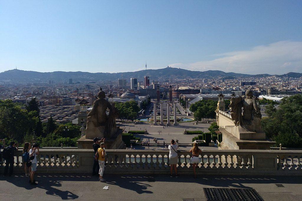 Plaza de España desde el Palacio Nacional