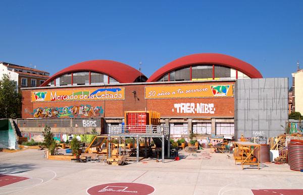 Mercado de la Cebada en Madrid