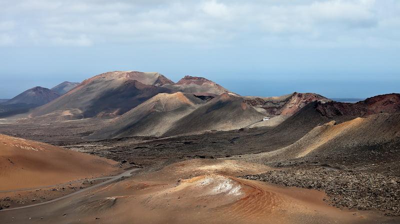 volcán de Timanfaya en Lanzarote